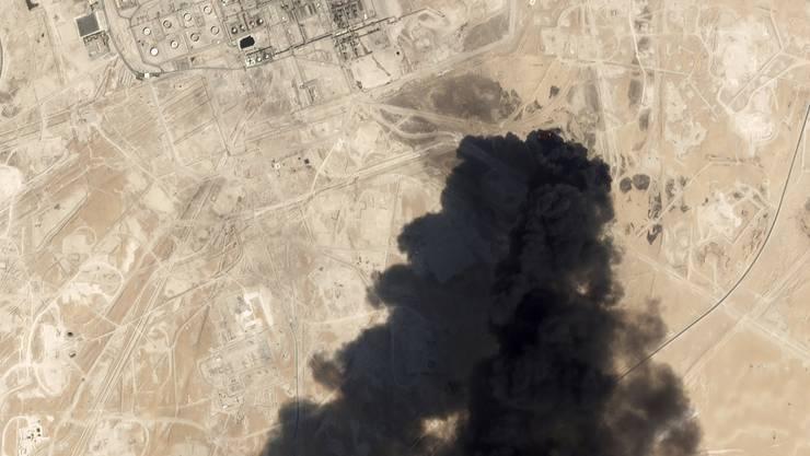 Ein Satellitenbild zeigt das Ausmass der Explosion.