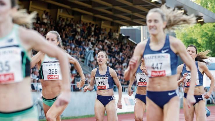 Selina Büchel, hier in Luzern, lief ihren Gegnerinnen in dieser Saison bisher hinterher.