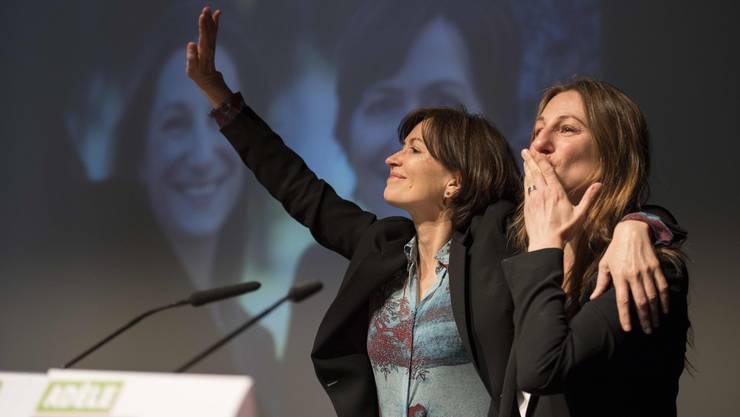 Grünes Experiment: Regula Rytz (l.) und Adèle Thorens führten die Partei bis vor drei Jahren im Duo.