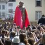 Geschenk aus China: Karl-Marx-Statue bei der Enthüllung in dessen Geburtsstadt Trier am Samstag.