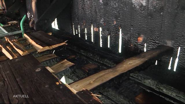 Brandursache des Oltner Holzbrückenbrandes geklärt
