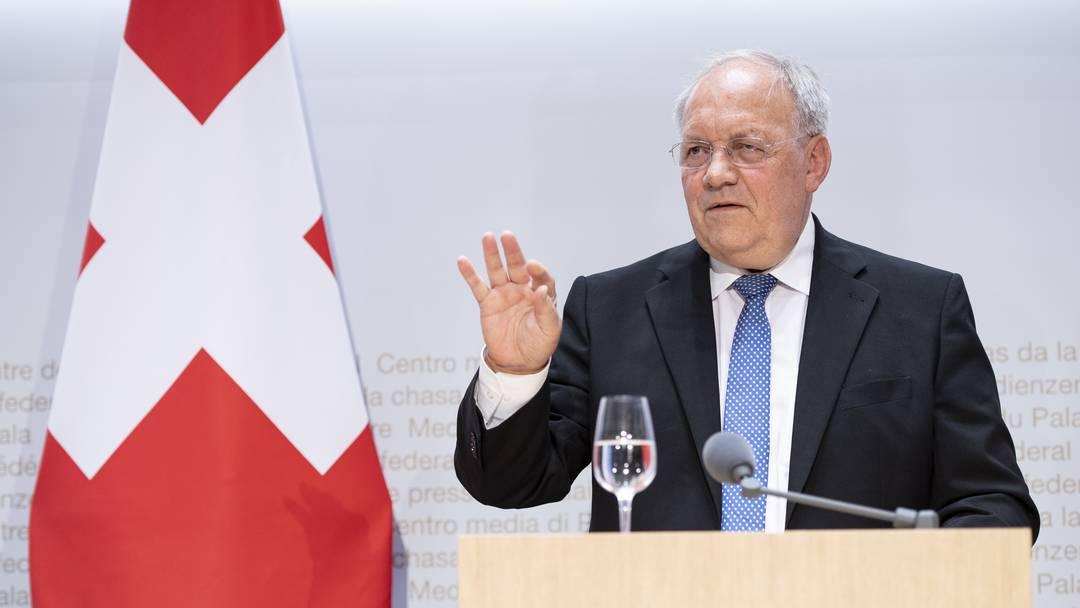 Rücktritt: Johann Schneider-Ammann verlässt den Ständeratssaal