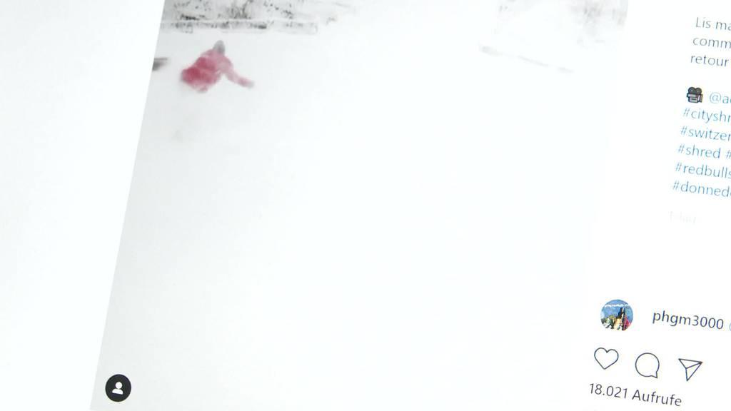 Viraler Clip: Snowboarder fährt durch St.Galler Innenstadt