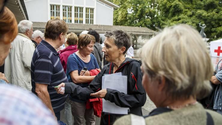 Rundgang in der Vorstadt Solothurn im August 2017. Zu Beginn werden Gruppen gemacht.