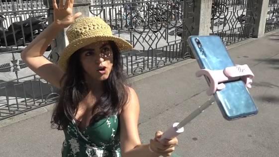 Wie eine indische Influencerin über die Schweiz berichtet