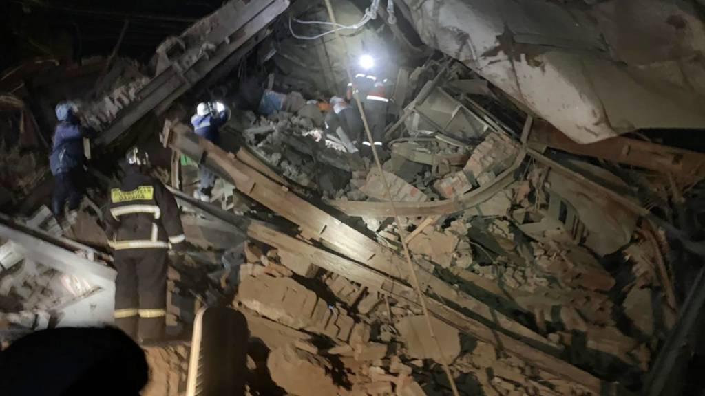 Mindestens drei Tote bei Fabrik-Einsturz in Russland
