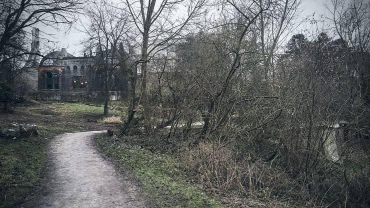 Rechter Hand, direkt vor dem Goetheanum, liegt das Schwinbach-Areal, das überbaut werden soll.