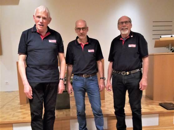 von links Franz Schnider, Heinz Müller, Manfred Hubschmid