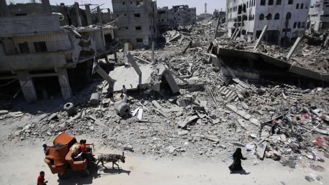 Gaza-Stadt: Nicht viel übrig nach einem israelischen Luftangriff