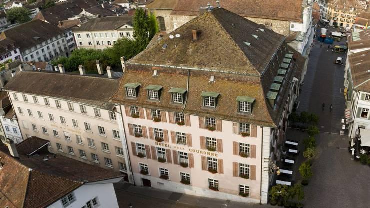 Das Hotel Krone im Herzen von Solothurn.