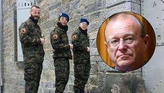 Die Schweizer Rekruten haben ihre Uniform mit dem Abbild des albanischen Nationalhelden Skanderbeg geschmückt – das passt Nationalrat Addor gar nicht.