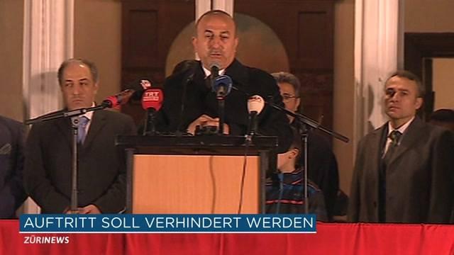 Türkischer Aussenminister: Zürich will Auftritt verhindern