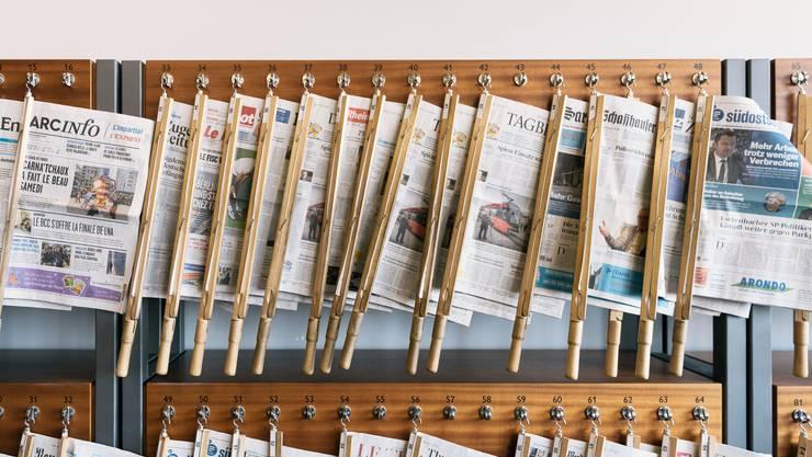 Unter Druck, aber frei: Schweizer Presse. (Symbolbild)