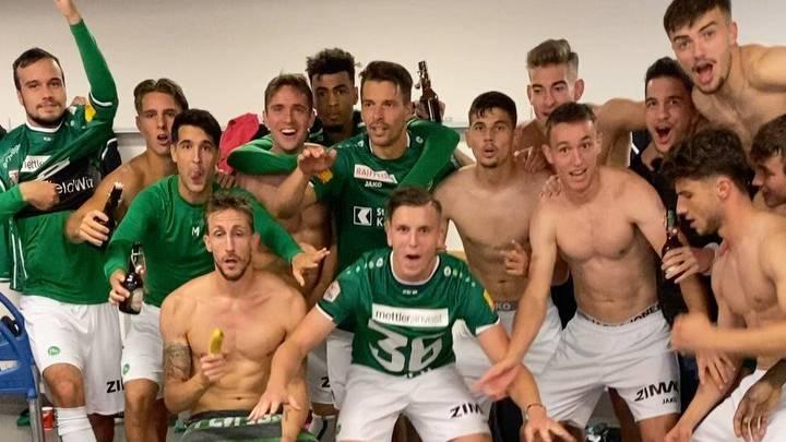 So feierte der FC St.Gallen den Vizemeistertitel