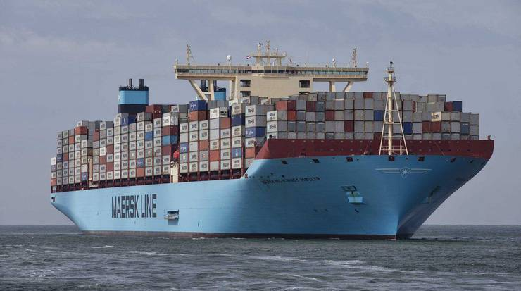 Die «Maersk Mc-Kinney Møller» fasst gut 18000 Container, 2000 mehr als das bisher grösste Schiff.