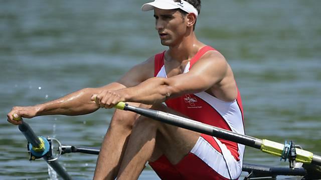 Auch David Aregger im schweren Einer steht im Halbfinal
