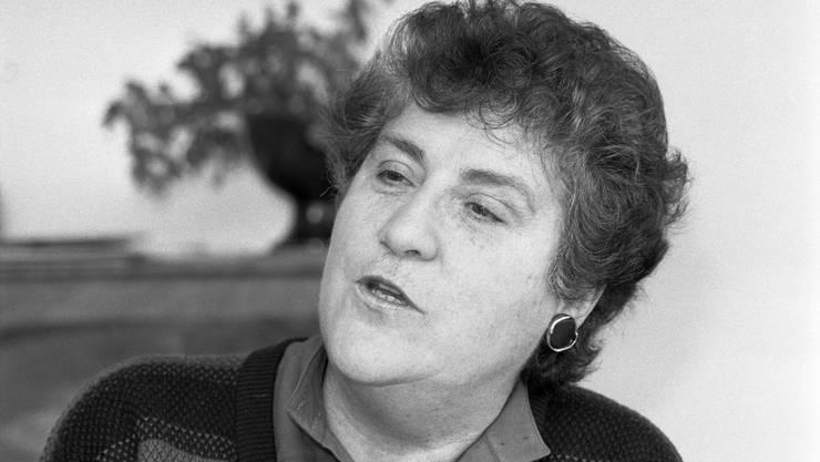 <p>Aktivistin Emilie Lieberherr (Foto: Februar 1986). Sie wurde später zurSP-Stadträtin von Zürich gewählt und war Vorsteherin des Zürcher Sozialamtes.</p>