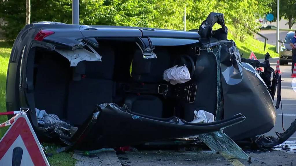 Heftiger Unfall in St.Gallen