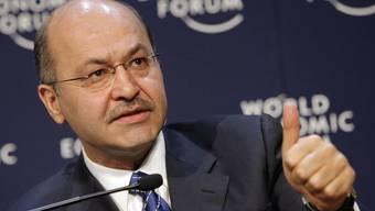 Der irakische Staatspräsident Barham Salih wird das World Economic Forum besuchen.