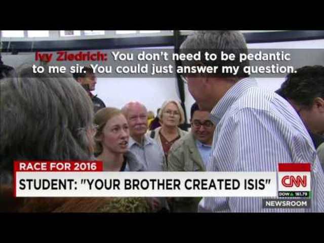 19-jährige Studentin  bringt Jeb Bush in Bedrängnis