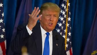 Weil Donald Drump beleidigende Äusserungen über Latino-Einwanderer gemacht hat, beendet ein spanischsprachiger US-Sender die Zusammenarbeit mit ihm (Archiv)