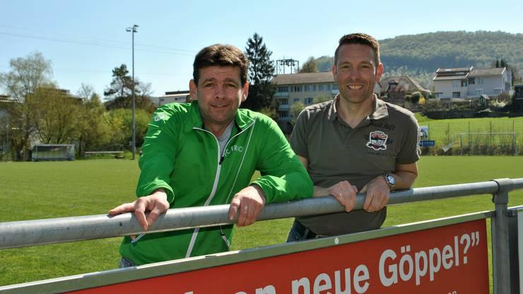 FC-Frick-Präsident Adrian Köchli (l.) und OK-Chef Michael Herde freuen sich auf den 10. Mai.