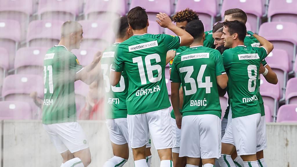 FC St.Gallen braucht Glück gegen Servette