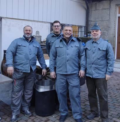 Michael von Arb , Mike Frei, Peter Christ (Kassier) und Harry Brudermann  (Hptm/Präsident)