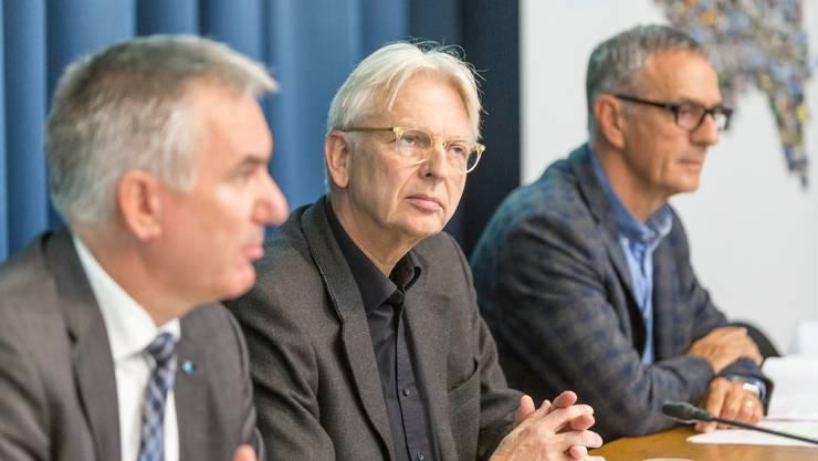 Bildungsdirektor Alex Hürzeler hat am Donnerstag über die Umsetzung des Lehrplans 21 im Aargau informiert.