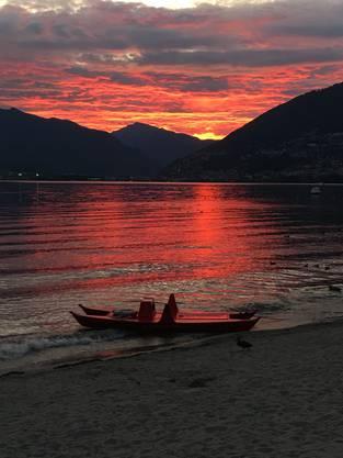 Abendstimmung am Lago Maggiore, Tenero