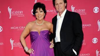 Kris und Bruce Jenner 2009, als sie beide noch verheiratet und Caitlyn ein Mann war (Archiv).