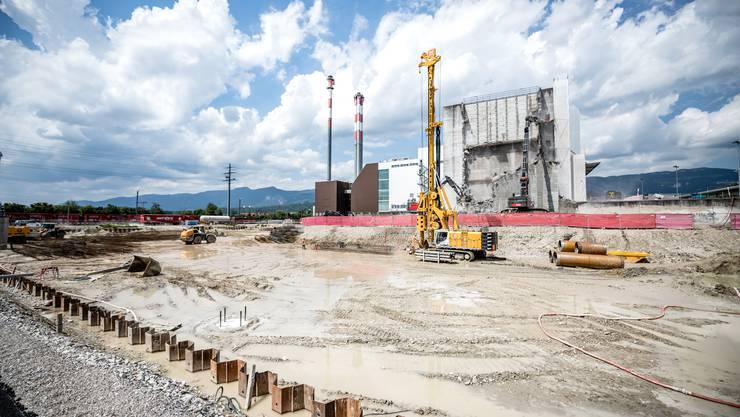 Ein Einblick in die grösste Baustelle des Kantons: Die Kebag im Zuchwiler Emmenspitz