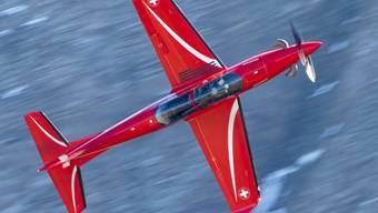 Pilatus darf die Schulungsflugzeuge vom Typ PC-21 in Saudi-Arabien und den Emiraten weiter warten: Ein der Schweizer Luftwaffe gehörendes Exemplar der Turboprop-Maschine. (Archivbild)
