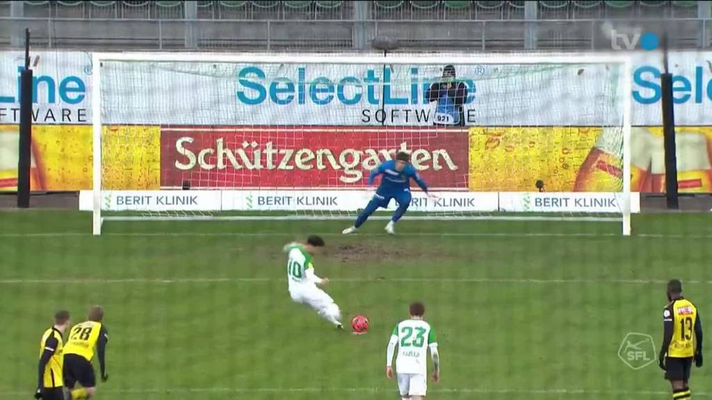 Der FC St. Gallen spielt gegen  YB 2:2 unentschieden