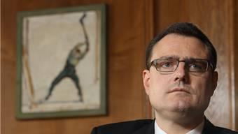 Ein Hodler im Rücken: Thomas Jordan in seinem Büro am Berner SNB-Hauptsitz, damals noch Nummer 2 der Nationalbank.