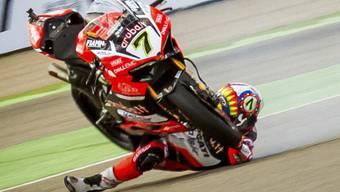 Chaz Davies musste nach seinem Sturz im Superbike-Rennen von Misano zur Kontrolle in den Spital (Archiv)