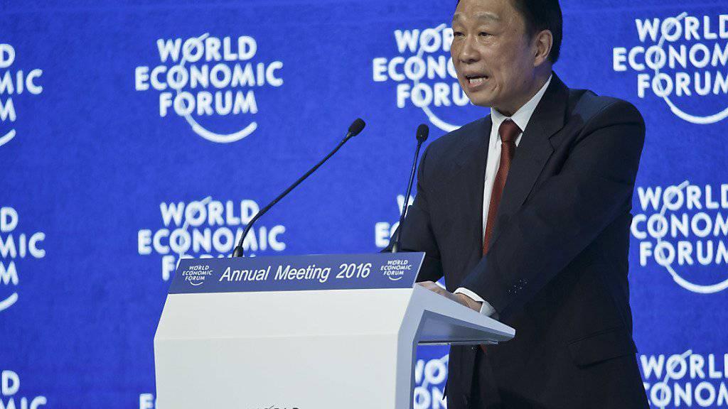Der chinesische Vizepräsident Li Yuanchao schaut trotz stockendem Wirtschaftswachstum im Reich der Mitte optimistisch in die Zukunft - und verspricht, Chinas Wirtschaft werde sich verstärkt öffnen.