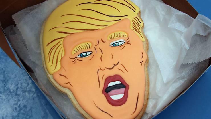 Um einiges süsser als in Wirklichkeit: Eine Bäckerei im New Yorker East Village bietet Porträt-Kekse an, unter anderem von Präsident Trump.