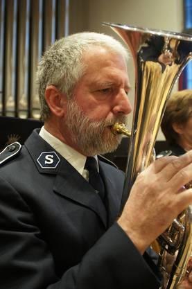 Es-Horn Markus Maurer vom Musikkorps Heilsarmee Zürich-Nord