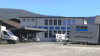 Das Gebäude der HMK Fenster-Technik AG in Aarau am Dienstag Mittag.