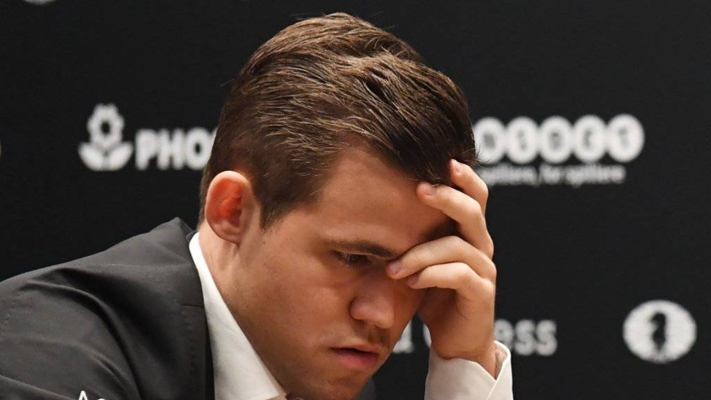 Titelverteidiger Magnus Carlsen fand bis jetzt keinen Weg zu einem Sieg gegen Herausforderer Fabiano Caruana