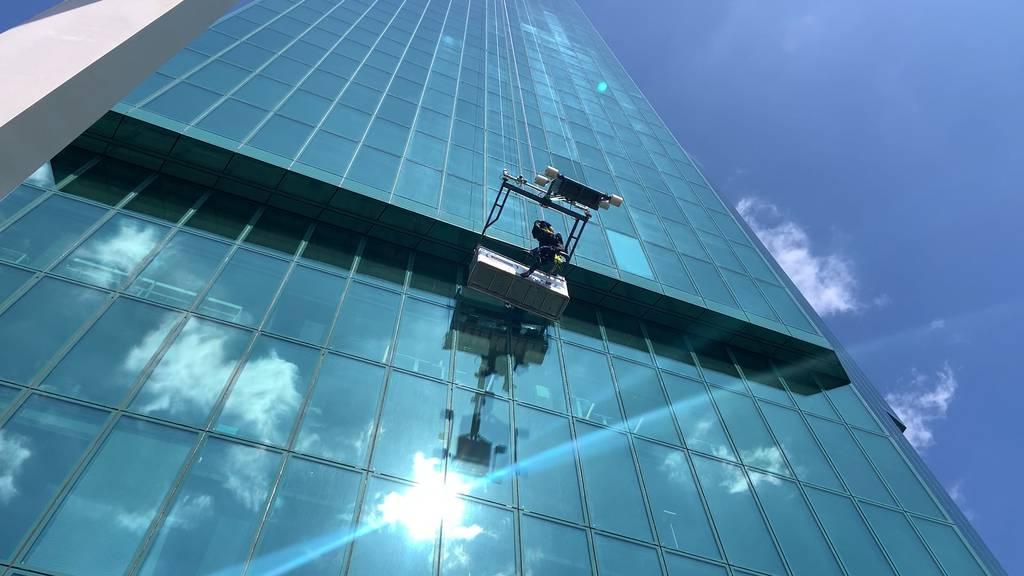 Notfall im 23. Stock: Übung der Höhenretter am Prime Tower