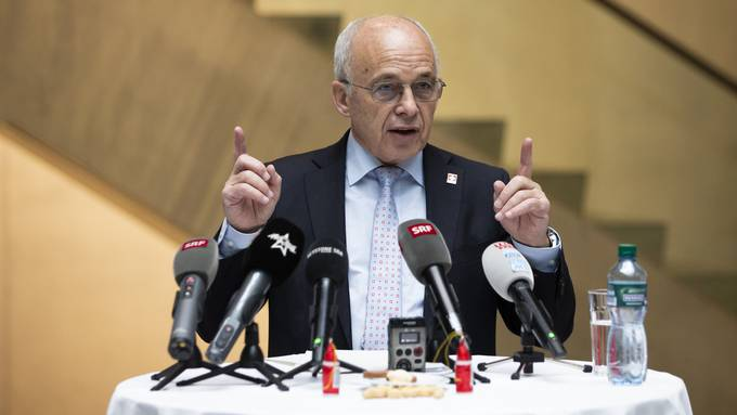 Bundespräsident Ueli Maurer anlässlich seiner Jahresend-Medienkonferenz am Freitag in Bern.