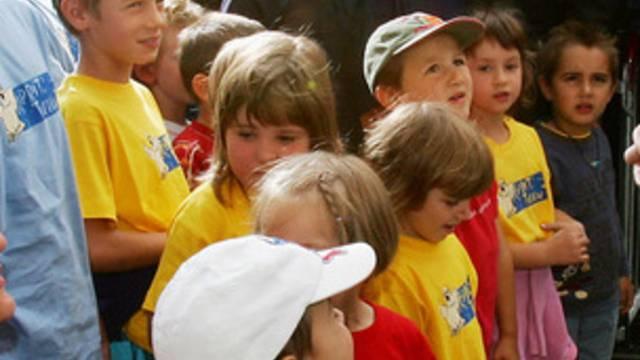 Müssen die Nationalhymne künftig kennen: Schulkinder in Italien (Symbolbild)