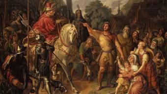 Knapp 20 Jahre vor der Gründung des Schweizerischen Bundesstaates gemalt: «Tells Apfelschuss» vom Zürcher Maler Ludwig Vogel.