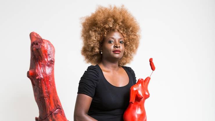 Yvonne Brändle-Amolo griff bei ihrem neusten Kunstprojekt auf ungewöhnliches Material zurück - menschliches Blut.