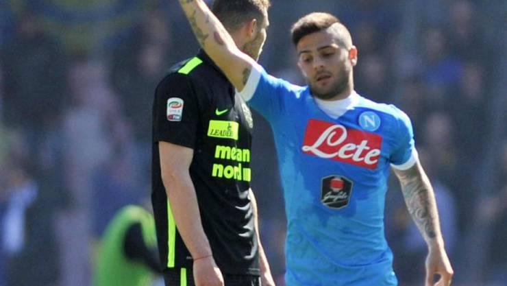 Lorenzo Insigne bejubelt sein 2:0 gegen Hellas Verona