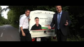 «Die Richtung muss stimmen»: Nils Fiechter und Markus Horst in ihrem Wahlkampfvideo 2015.