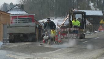 Defekte Hauptwasserleitung in Kyburg