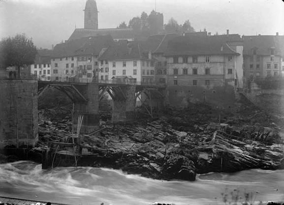 Laufenburg und die alte Rheinbrücke.
